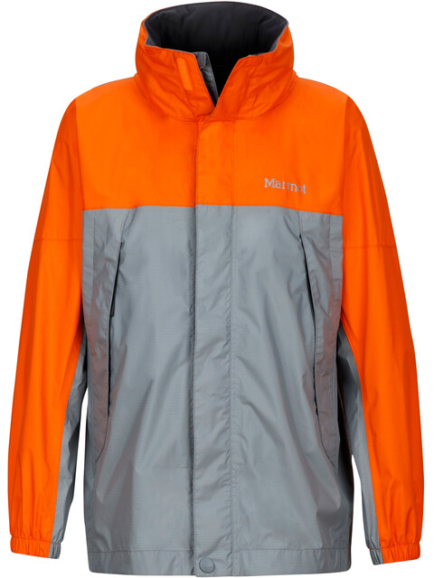 Marmot Kids PreCip Jacket Grey Storm/Bright Orange